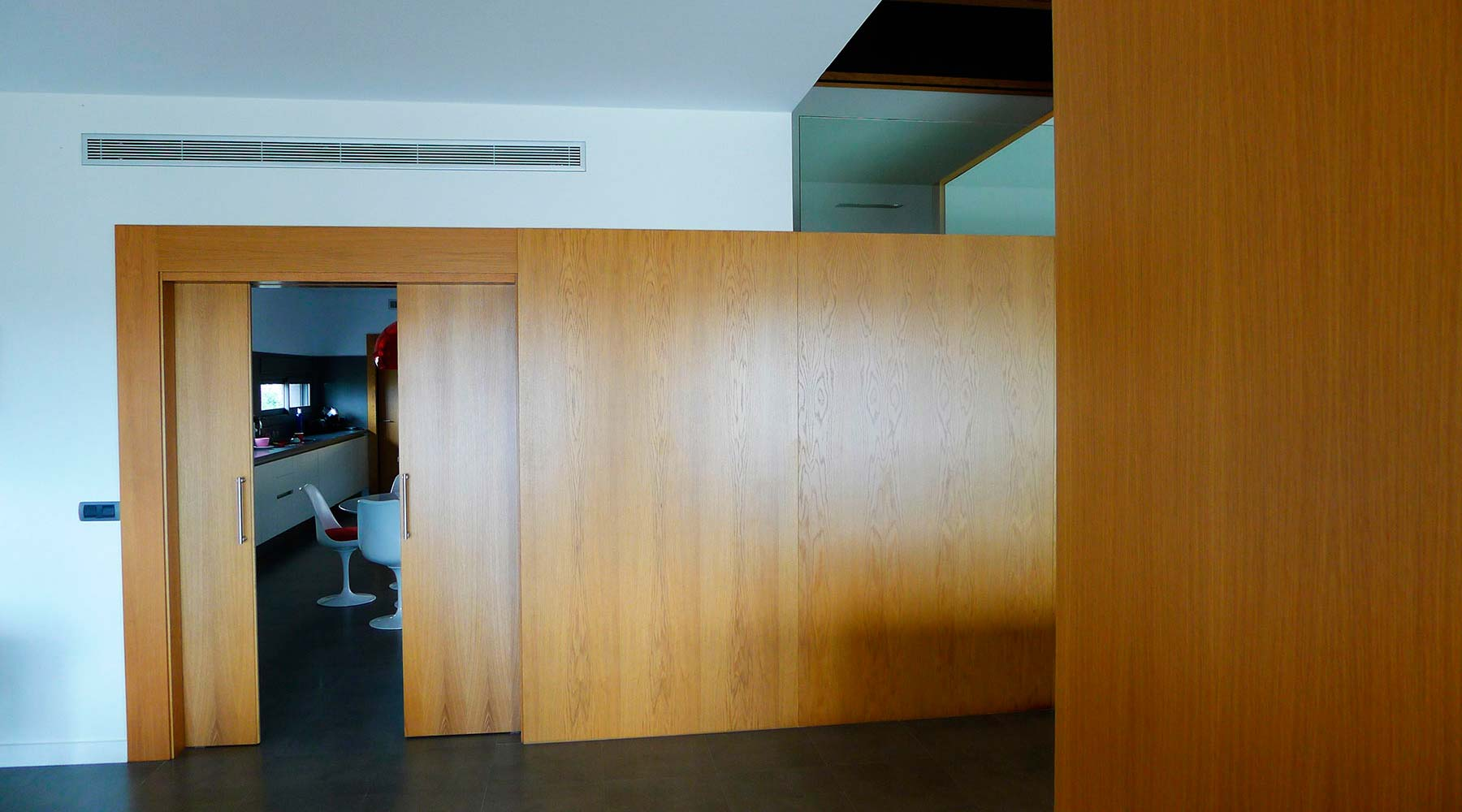 Puerta madera corredera
