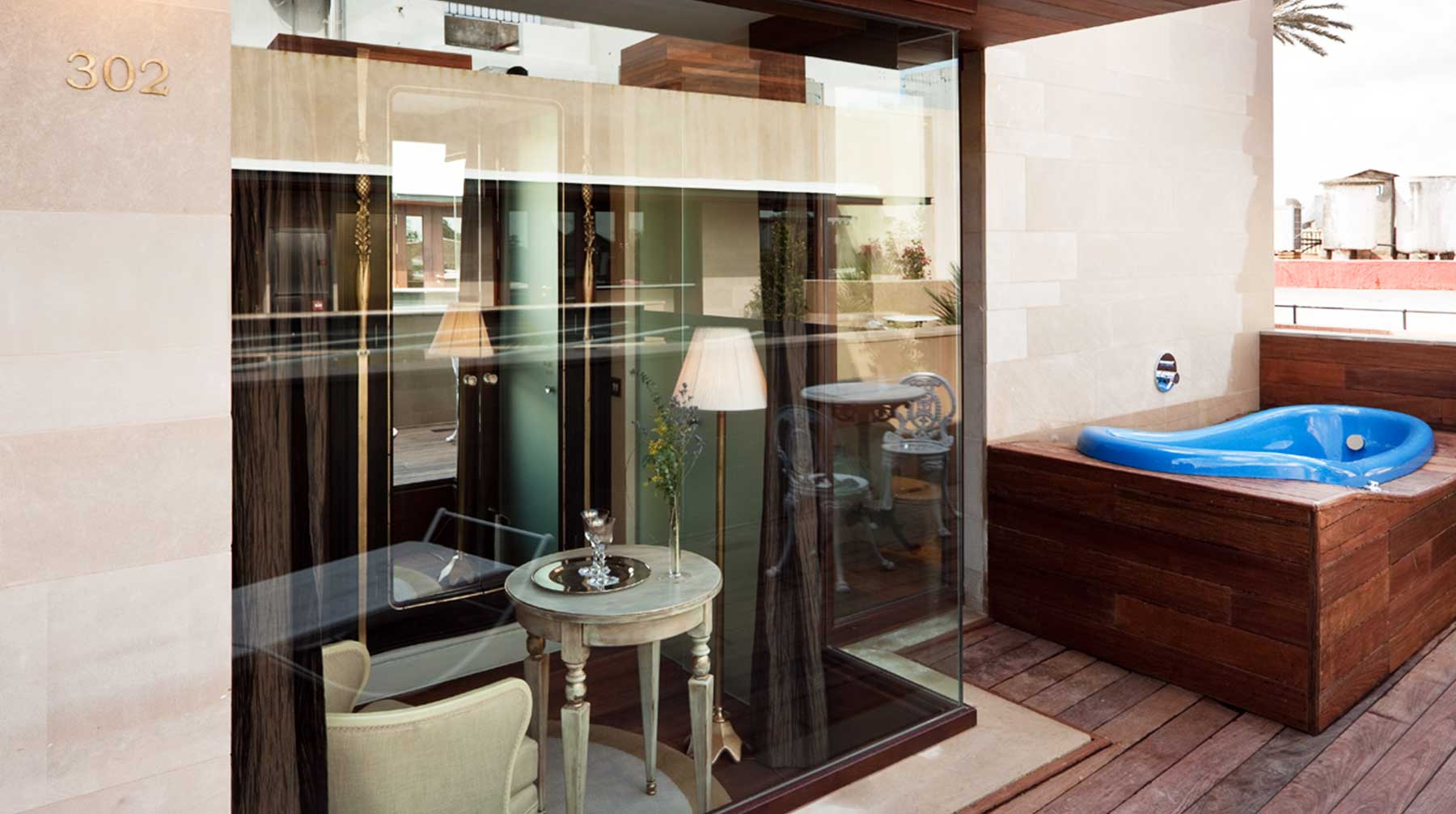Exteriores de diseño para hotel en Sevilla